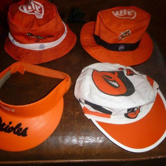 Vintage Orioles Other - 6 Baltimore Orioles Souvenir Hats Caps Visor